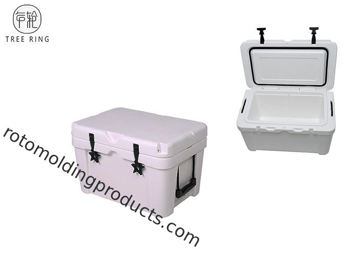 25L Mini Heavy Duty Roto Molded Cooler Box , 7 Day Coolers Camping Ice Cooler Box