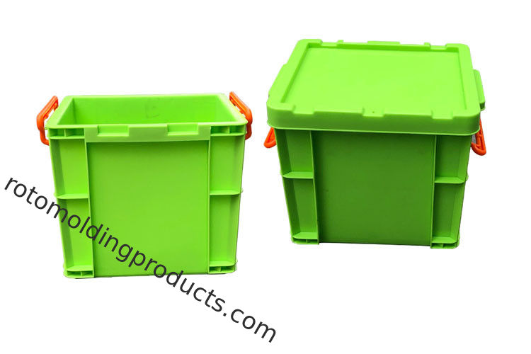 Green Square Euro Stacking Containers With Locking Lids For Turbocharged Storage